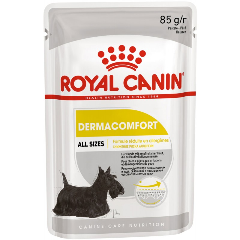 Royal Canin Dermacomfort для взрослых собак всех пород при аллергии паштет  (85 гр)
