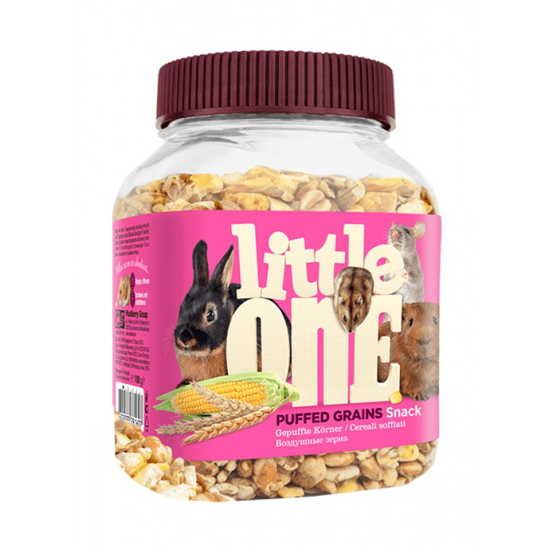 Little One Snack Puffed Grains лакомство для грызунов Воздушные зерна (100 гр)